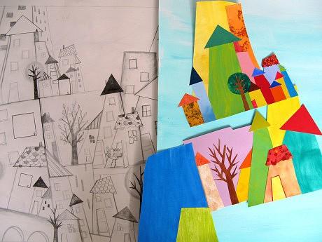 crayonné-ville en construction